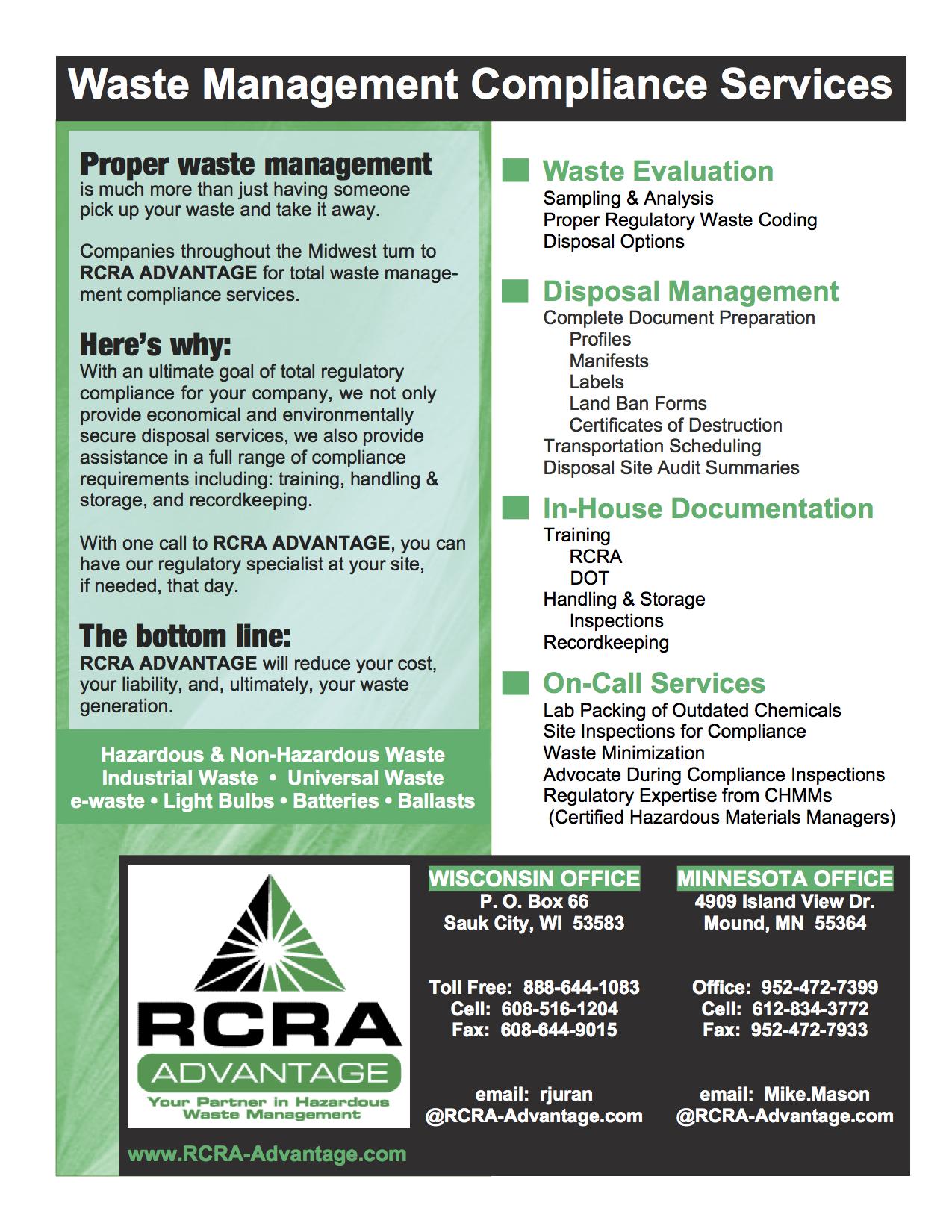 Services – RCRA Advantage